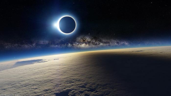 Затмение Солнца с орбиты (700x393, 66Kb)