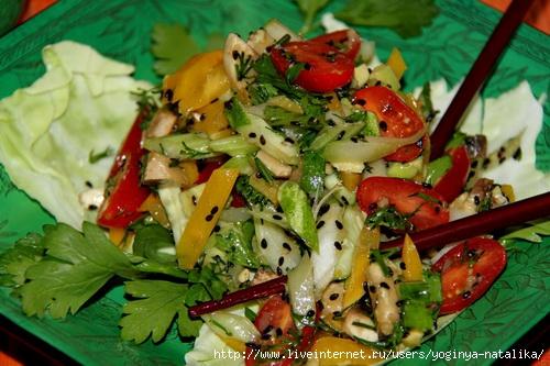 Салат с курицей и маслом растительным рецепт с