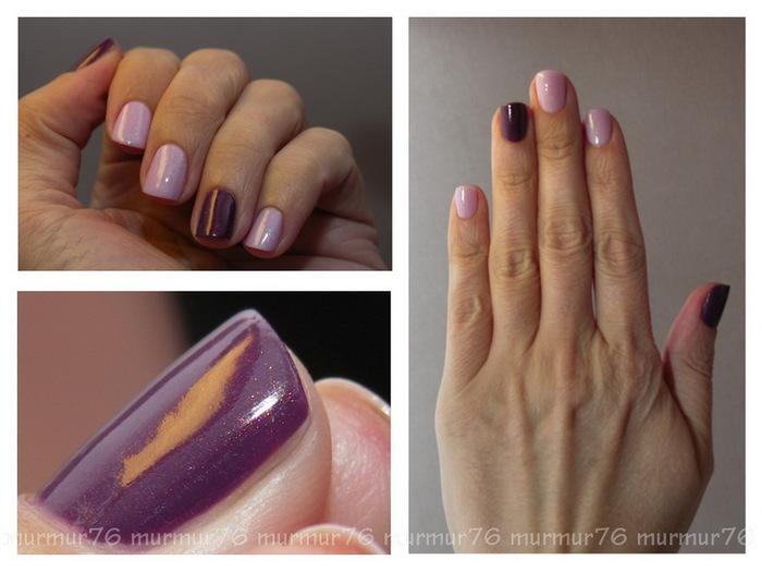 Ногти гель лак двухцветные