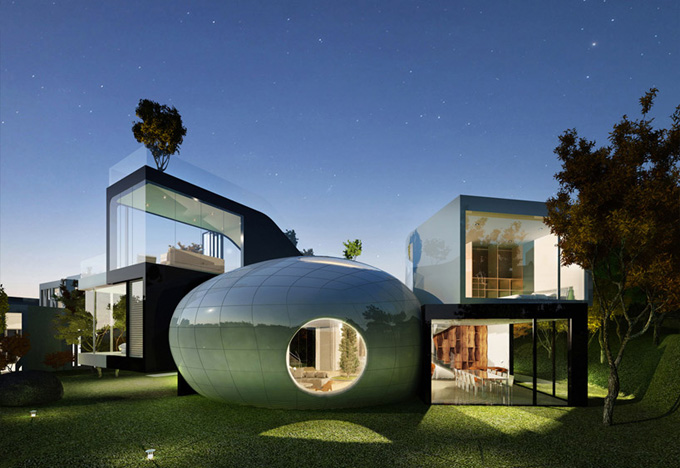 соверменная архитектура Cocoon House фото (680x468, 125Kb)