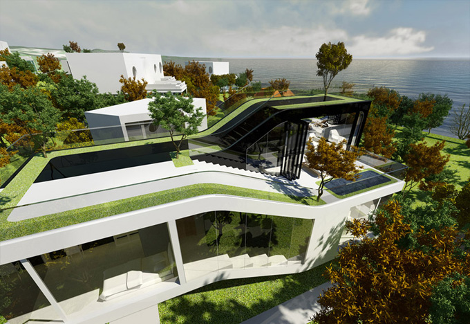 соверменная архитектура Cocoon House фото 4 (680x468, 186Kb)