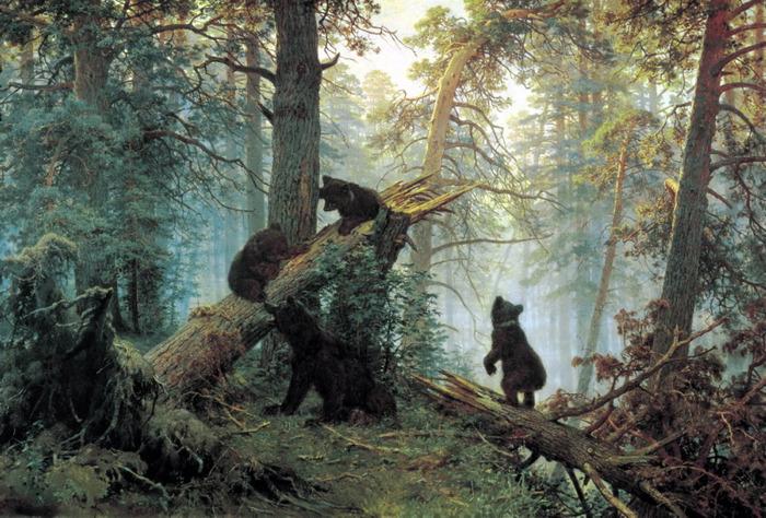 Утро в сосновом лесу,Шишкин (700x474, 160Kb)