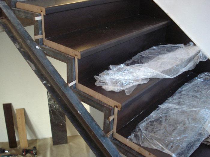 Железная лестница своими руками фото