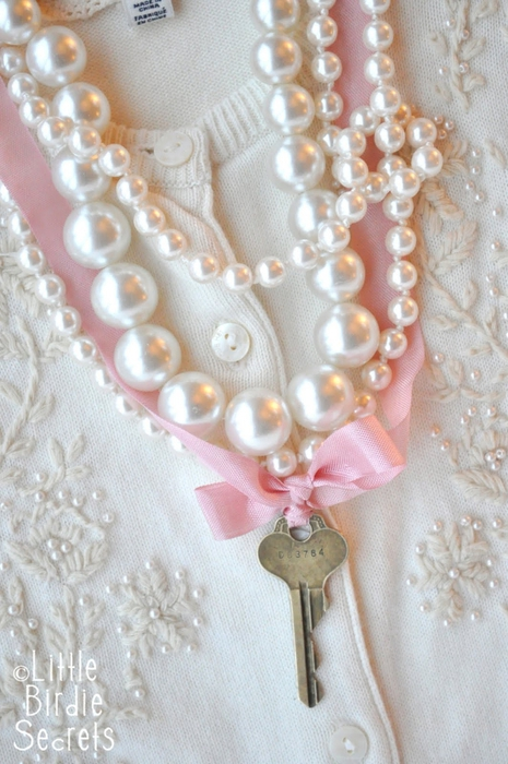 antique key necklace tutorial (1) (465x700, 256Kb)