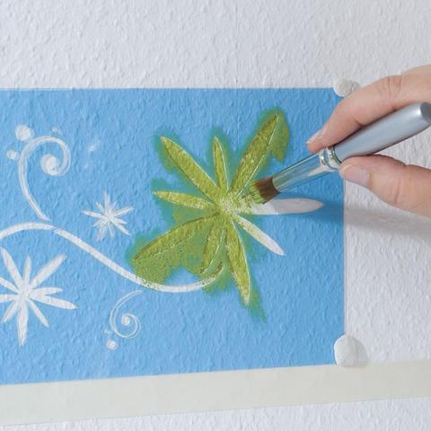 Эффкект старых стен краска мастер класс как сделать #7