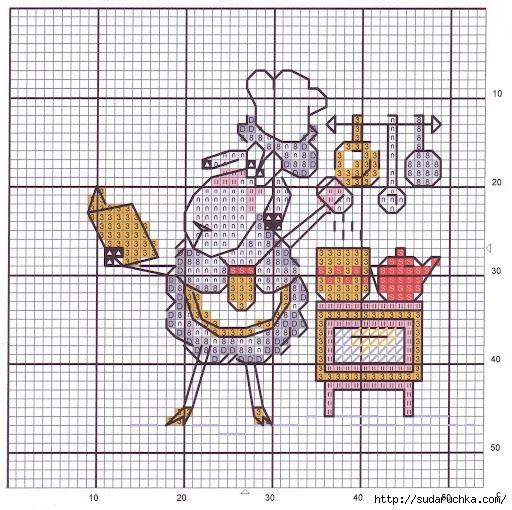 Забавная схемка для вышивания.