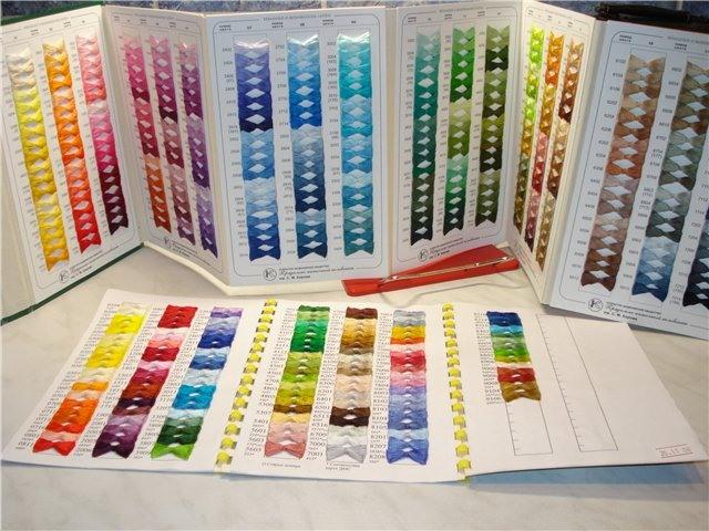 Цветовая палитра вышивки