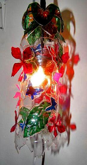 Светильник из пластиковых бутылок своими руками мастер класс