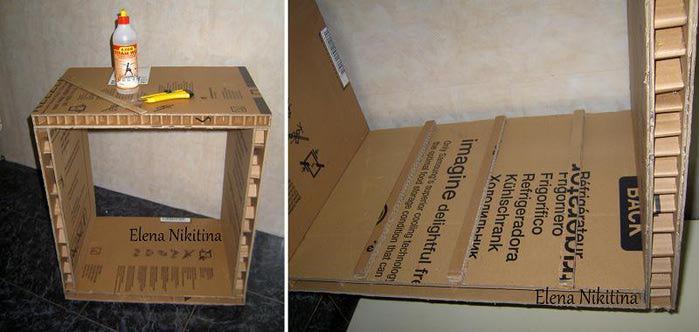 Игрушечная мебель из картона своими руками - Поделки