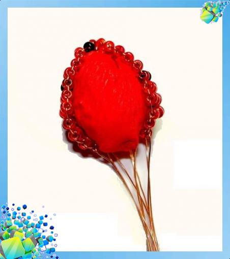 Как плести ягоды из бисера - Делаем фенечки своими руками.