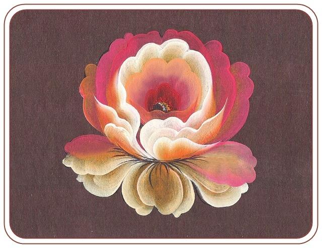 Роспись для начинающих розы
