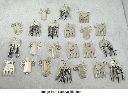 kathryn riechert flatware critters (425x326, 34Kb)