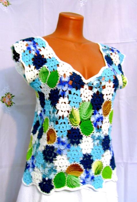Блузочка из цветов