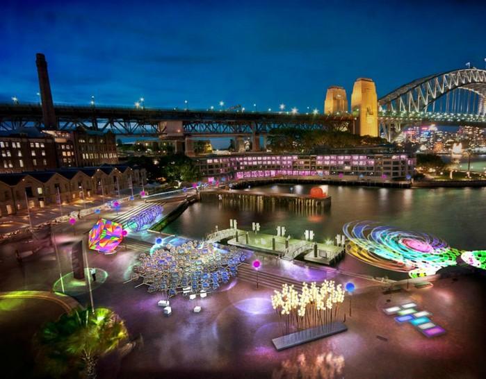 Красочный фестиваль света 2012 в Сиднее 4 (700x546, 108Kb)