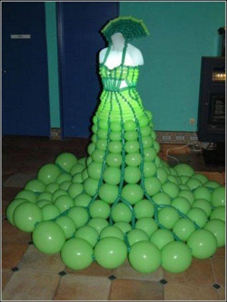 Как сделать платье из шаров своими руками