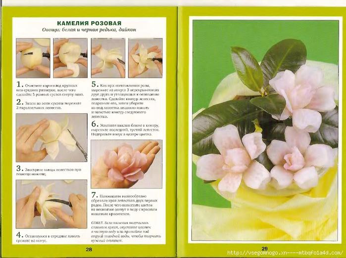 Поделки из овощей и фруктов своими руками цветы 91