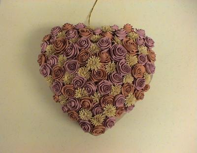 Объемное сердце из роз(Квиллинг, Мастер-класс)