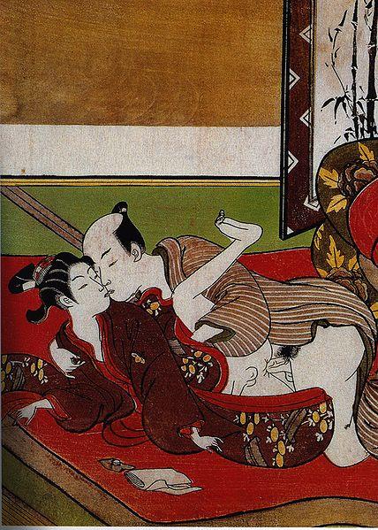 Sodomie Suzuki Harunobu, détail d un Shunga, gr. History of erotic
