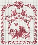 """Таблица цветов - Схема вышивки  """"Графика """" - Схемы автора  """"lavrentevaalla """" - Вышивка крестом."""
