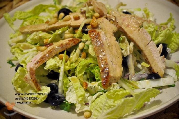 салат с курицей и пекинской капустой кукурузой