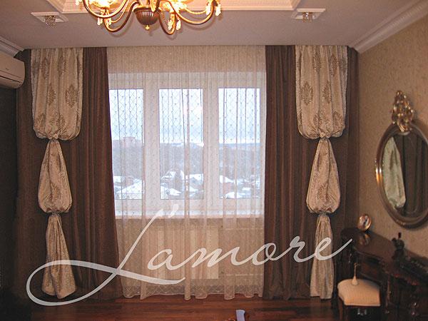 Как сшить шторы в гостиную образцы фото штор