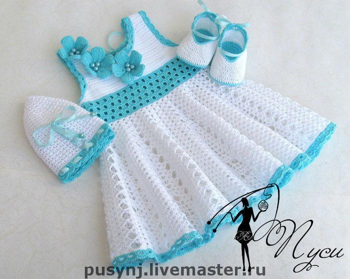 Платья для девочек крючком. http://www.liveinternet.ru/users/ma.../post223677881.