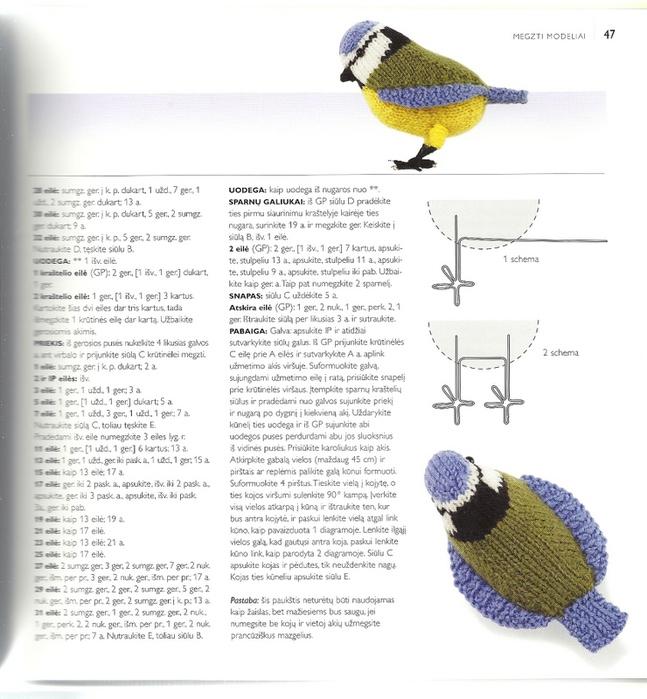 Схемы для вязания крючком птички