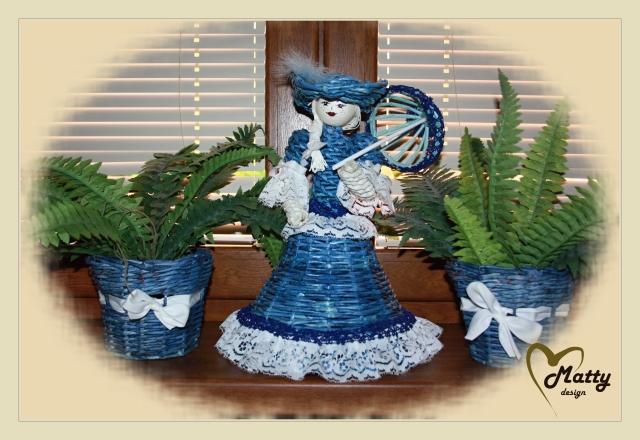 Кукла из газетных трубочек (12)