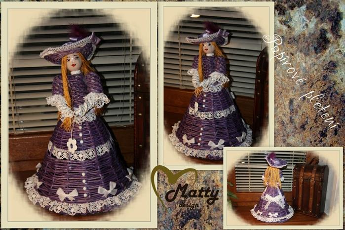 Кукла из газетных трубочек (14)