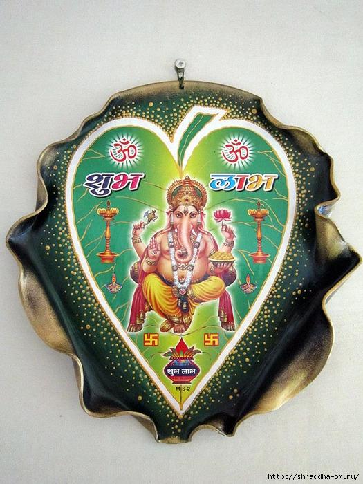 Ганеша, винил, акрил, автор Shraddha, 1 (525x700, 311Kb)