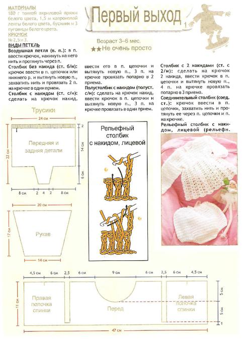 Схема вязания платья крючком для новорожденных схемы