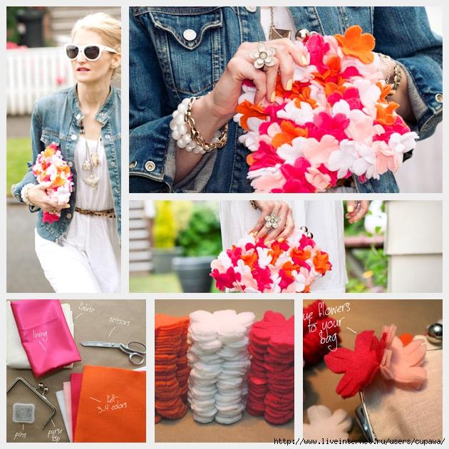Сумки украшенные цветами своими руками