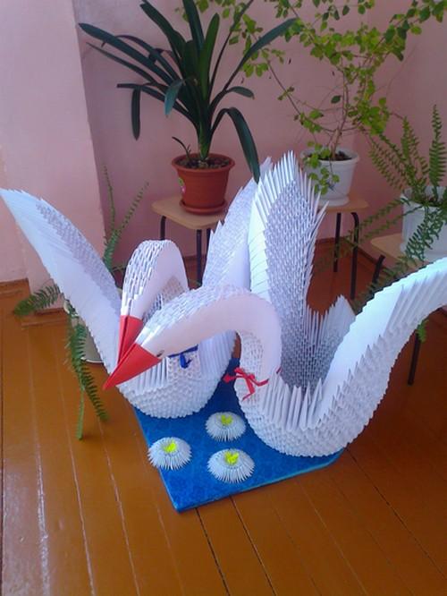 лебеди-оригами (500x666, 117Kb)