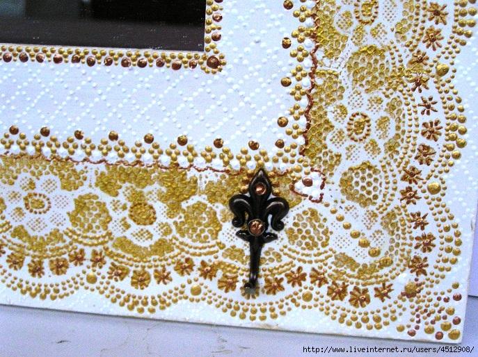 Зеркало белое+золото. Фрагмент (687x514, 352Kb)
