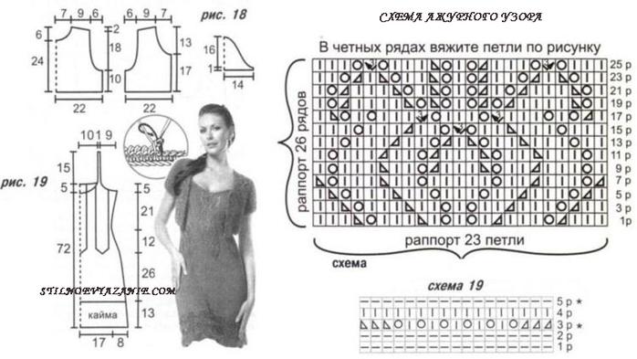 Платья вязаные модные эксклюзив