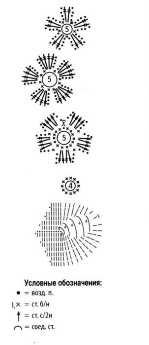 схема цветок и листик (303x700, 52Kb)