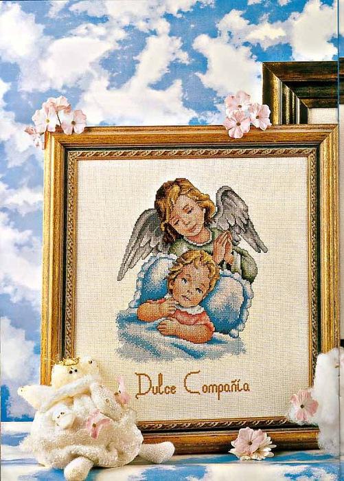 Ангел-хранитель / вышивка