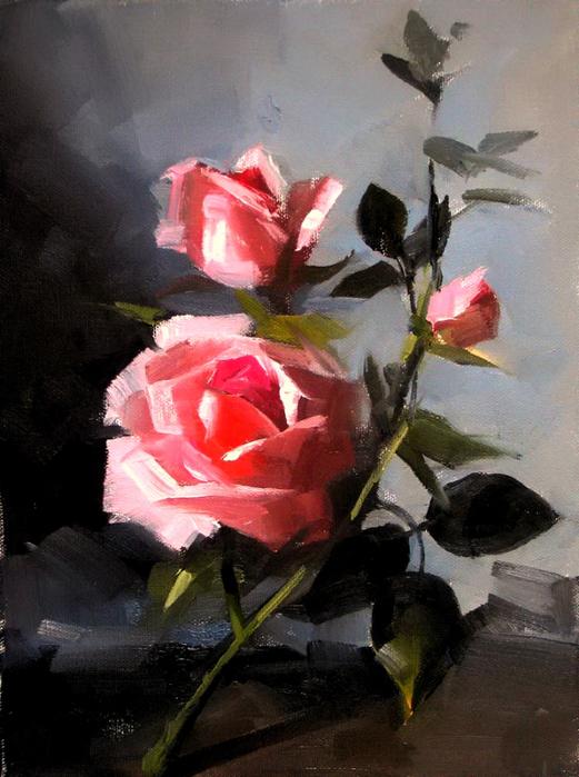 Morning roses (521x700, 382Kb)