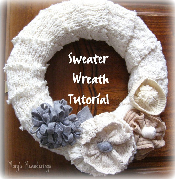 Sweater Wreath Tutorial pic (684x700, 154Kb)