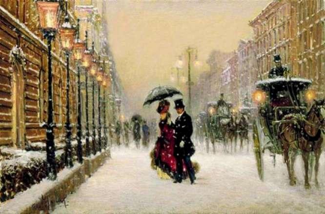 Зимняя улица.