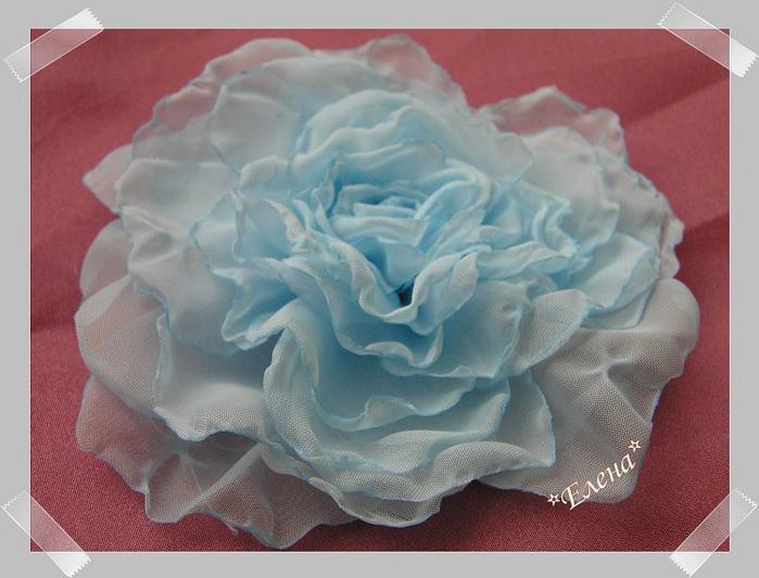 Цветы из вуали сделать