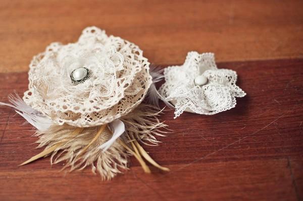 Винтажные цветы из ткани своими руками