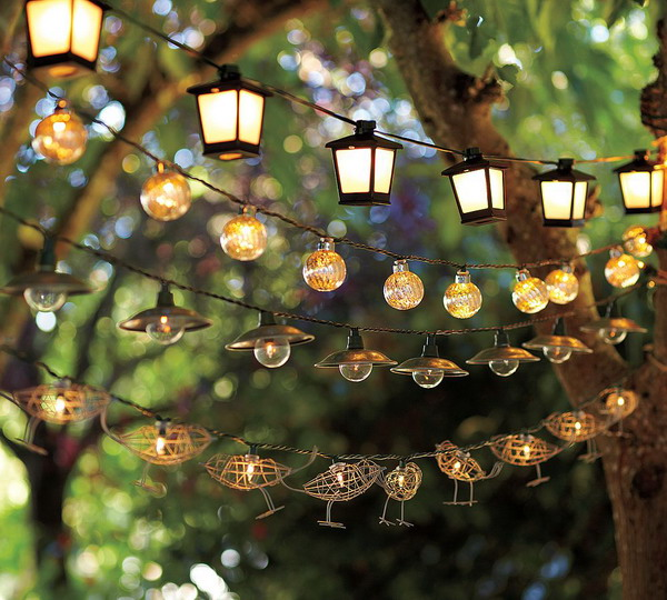 Гирлянды фонарей во дворе Handmadeidea