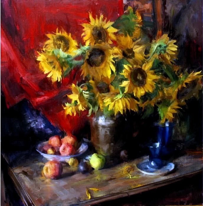 sunflowers (688x700, 171Kb)