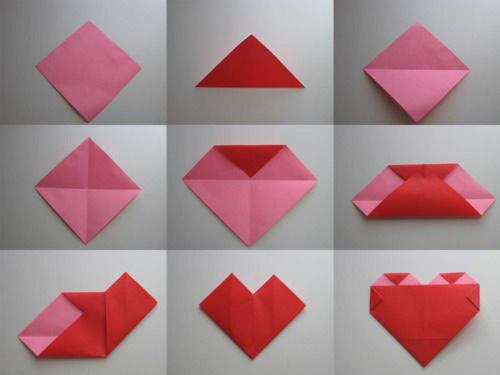 Сердце из бумаги в технике оригами и фото мастер-класс к нему.  Подарки_своими_руками.  Прочитать целикомВ.