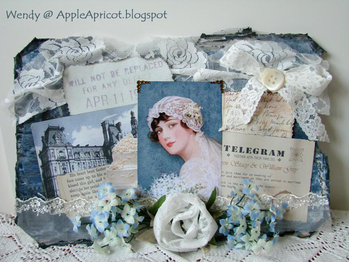 Vintage Bride collage by Wendy at AppleApricot blogspot (700x525, 127Kb)