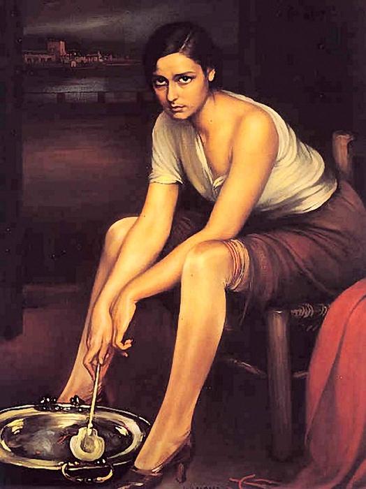 Julio Romero de Torres (1880 - 1930)La Chiquita Piconera (524x700, 251Kb)