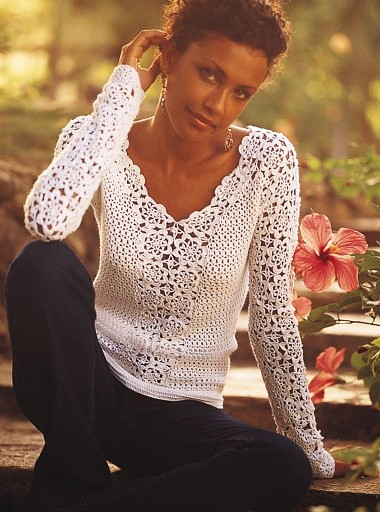 вязки с спицами bluzki - Выкройки одежды для детей и взрослых.