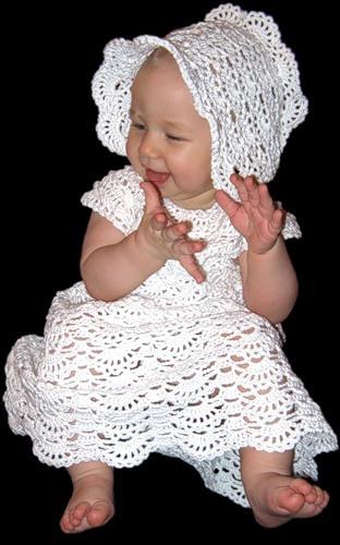 Вяжем крестильное платье