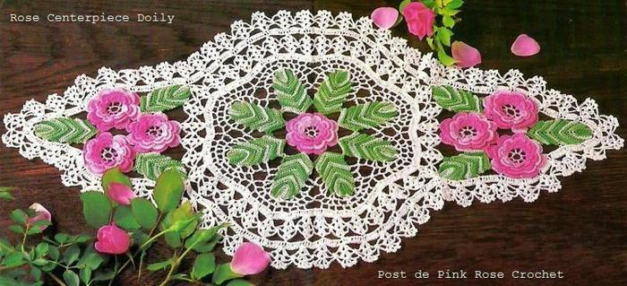 Rose Centerpiece Doily (700x319, 71Kb)